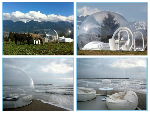 Crytstal Bubble – clear portable living rooms make you part of nature itself