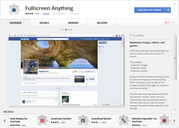 Fullscreen Anything – maximize images, videos and games on any site using this free Chrome extension [Freeware]