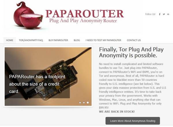 PAPARouter – this is what you need if you REALLY want to be anonymous on the web
