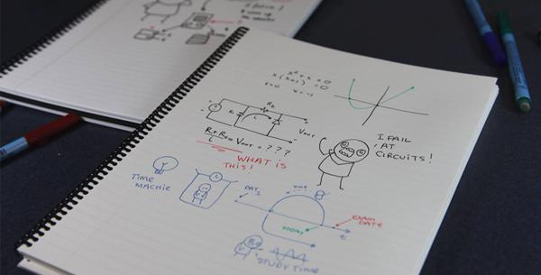 Wipebook – It's like a big Whiteboard stuffed into a notebook