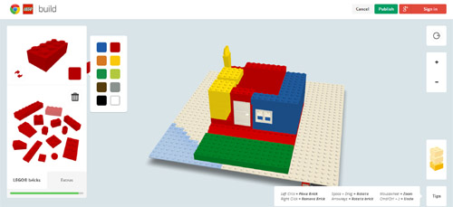 Build with Chrome Example Build with Chrome   Google teams up with LEGO to create virtual fun...LEGO in your browser!!