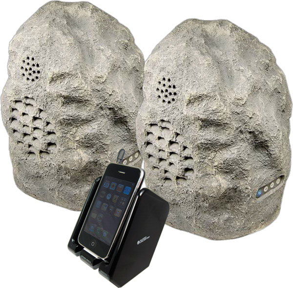 Rock 2 Cables Unlimited Wireless Speakers – Rock out with the outside rocks