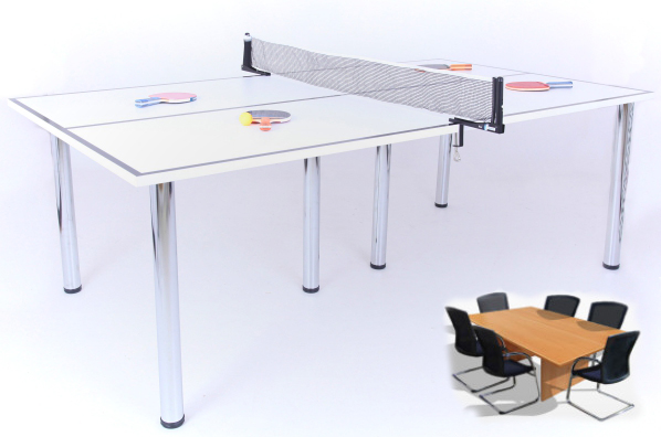 Office Fitness Table Tennis Meeting Table – because all work and no play…right?