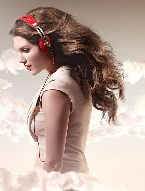 Sennheiser Momentum On-Ear Red Headphones – selling Valentine's Day never gets old does it?