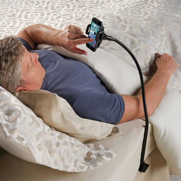 Bedside Smartphone Stand – A sign that maybe you spend too much quality time with your phone.