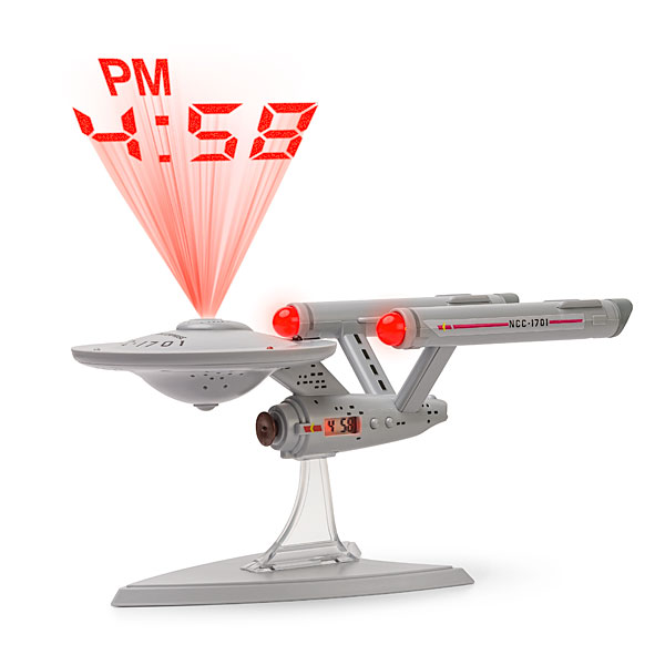 Star Trek Enterprise Projection Alarm Clock – Beam me the time, Scotty.