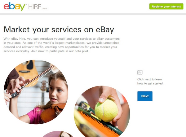 ebayservices eBay Hire   auction giant diversifies into providing services...good idea, AAAAAA+++, would use again