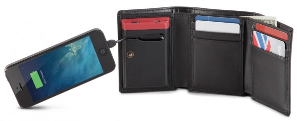 Smartphone Charging Wallet – because just storing cash is way too mundane
