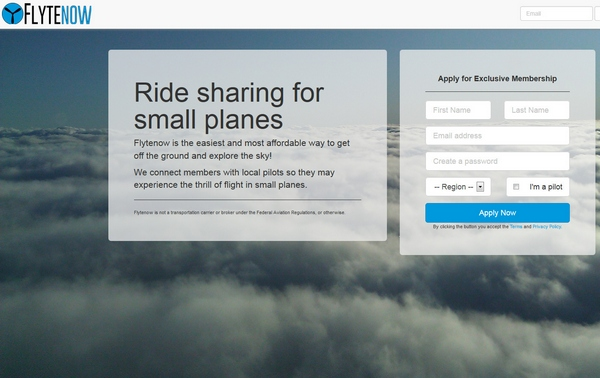 FlyteNow – grab a ride in a small plane and act like you're in a private jet