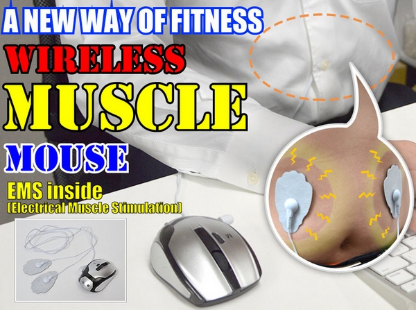Wireless Muscle Mouse – exercise while you work without moving a muscle