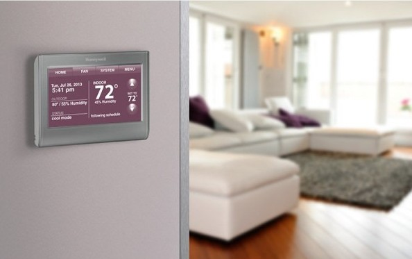 Honeywell Wi-Fi Smart Thermostat – lets you control the weather…..not really
