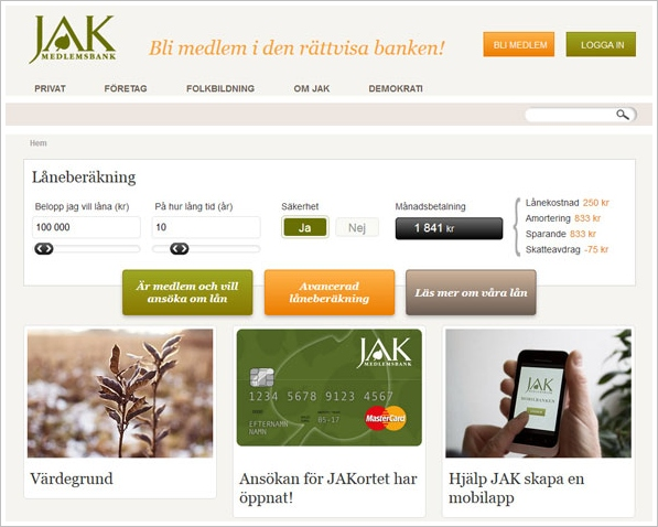 Jak Bank – interest free ethical borrowing becomes a reality in Sweden