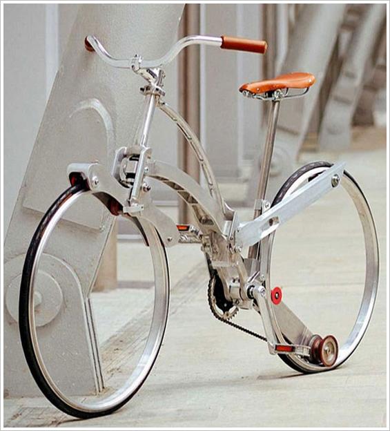 Sada Bike – hubless, elegant and folds to the size of an umbrella