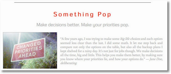 Something Pop – cool free mathematical tool helps you make optimum decisions in life