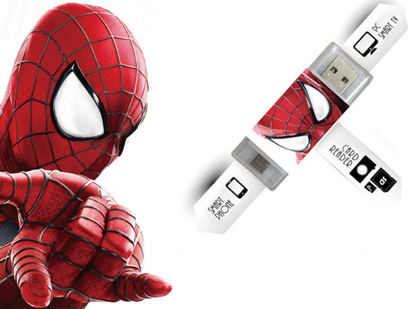 spidermandualcardreader5 Spiderman 2 Dual Card Reader   spidey delivers flexible storage and conversion with a sticky hand