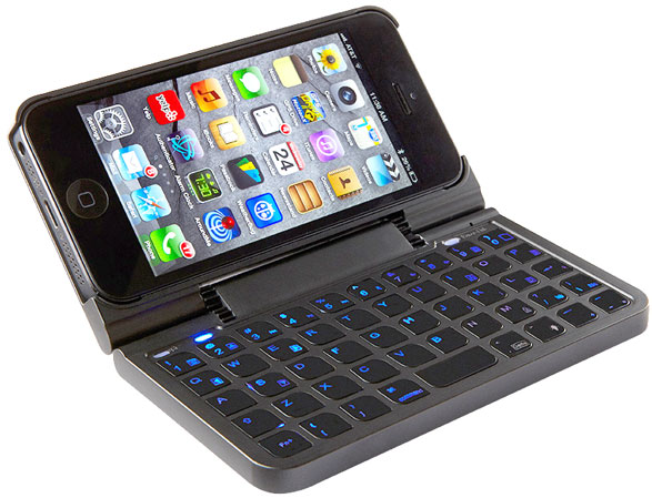 iphone5keyboardcase iPhone 5 Keyboard Case   Bluetooth QWERTY case makes your typing fast and fancy