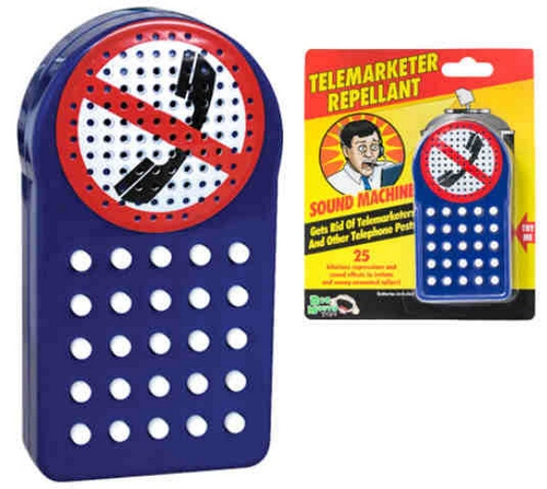 Telemarketer Repellant – get rid of annoying phone callers with the push of a button
