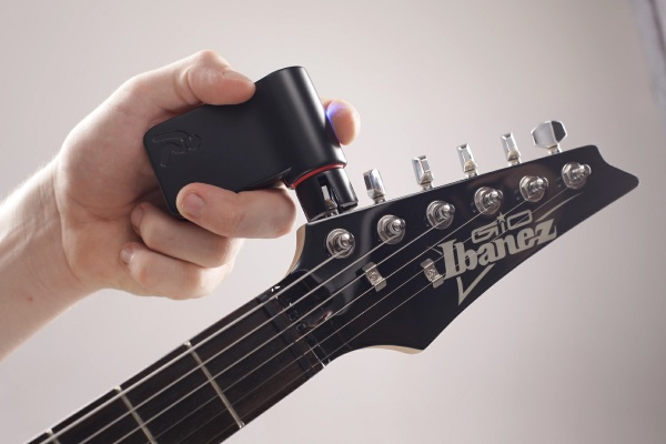Roadie Tuner on guitar