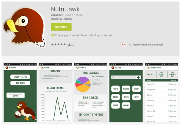 NutriHawk – keep tabs on your essential vitamins and minerals [Freeware]