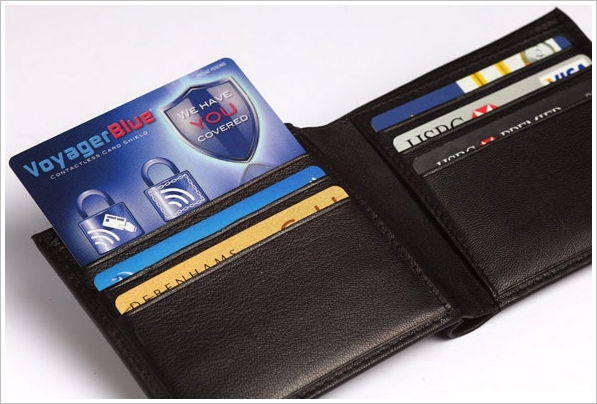 Voyager Blue – protect your credit cards from ID scammers