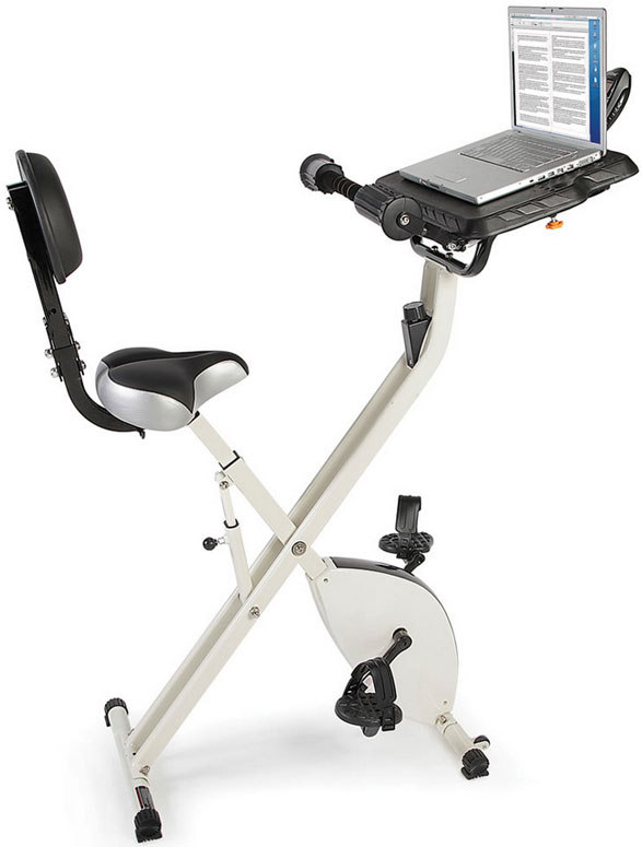 Foldaway Exercise Bicycle Desk – the perfect combination of work, play and fitness