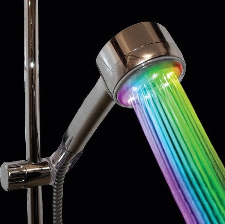 VDOMUS Color Changing Dreamy Round Shower Nozzle – rainbow your shower into a rave