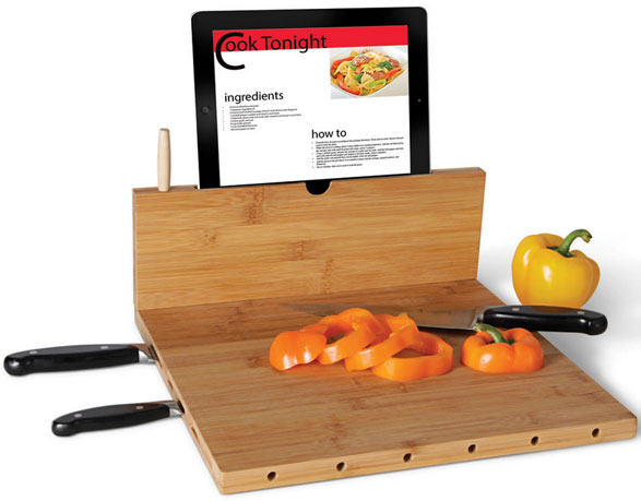 Bamboo iPad Recipe Cutting Board – space age tech for your kitchen and cooking
