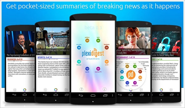 PlexiDigest – free app delivers pocket sized summaries of breaking news for people who don't like reading much [Freeware]