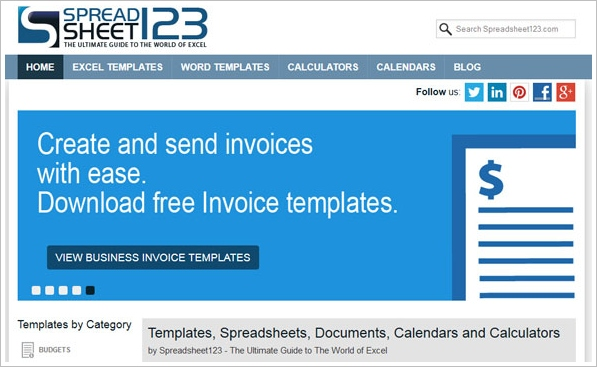 Spreadsheet123 – free premium spreadsheet templates will make your life so much easier [Freeware]