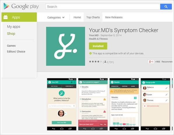 Your MD's Symptom Checker – the doctor in your pocket [Freeware]