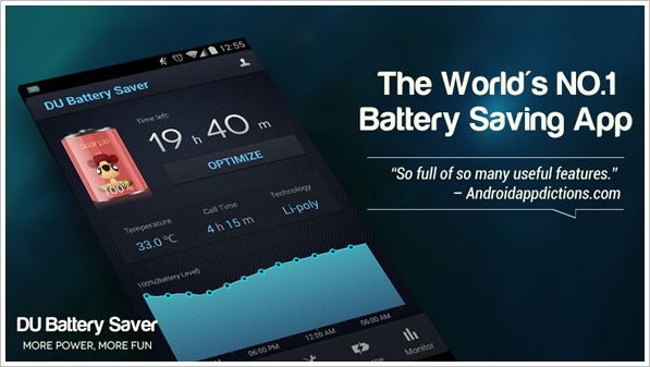 DU Battery Saver – extend your Android phone battery time with this free app [Freeware]