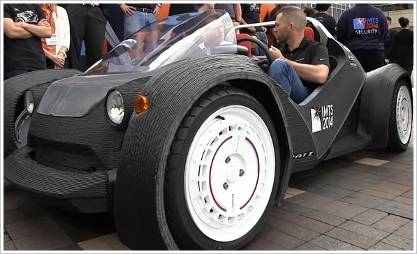Strati – world's first 3D printed car gets its first drive out