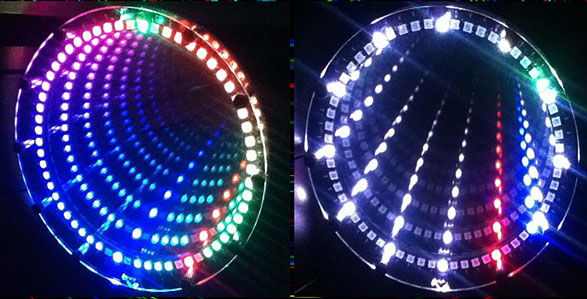 Infinitely Mirrored Anachronism Clock – super cool DIY clock gives a new dimension on time