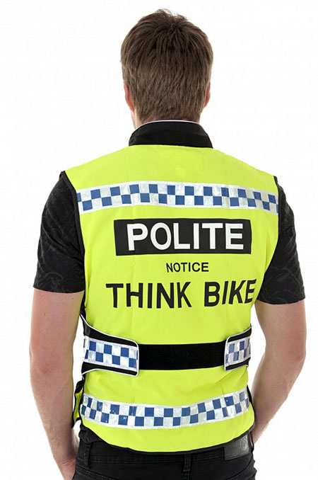 POLITE Cycle Waistcoat – protect yourself from crazy car drivers with this cool cycling vest