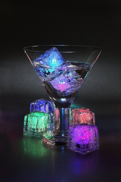 Firefly 12 Pack of Colour Changing LED Ice Cubes – bring rainbow brightness to any event