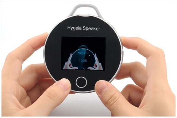 Hygeia Portable Heart Monitor and Bluetooth Speaker – check your health while you boogie on down