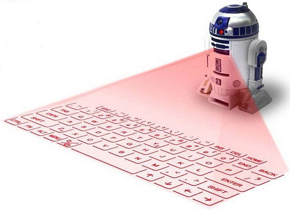 R2D2 Virtual Keyboard – the humble keyboard suddenly gets some Galactic laser beam action