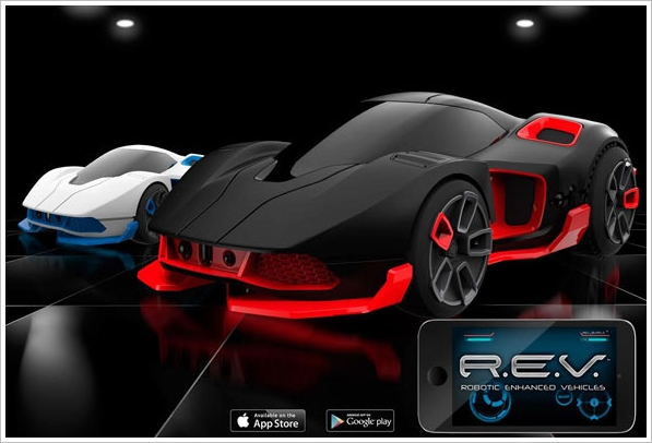 R.E.V. – smart robot toy car comes with GPS and a rather aggressive attitude [First Look]