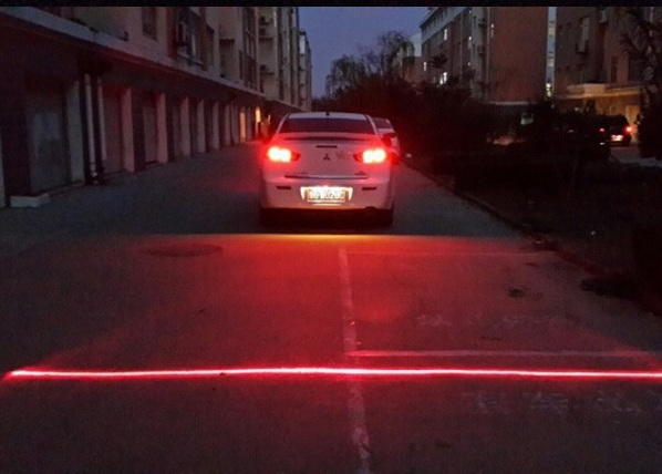 Anti Collision Rear-End Car Laser in use