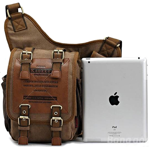 Retro Canvas Gadget Bag – carry your stuff around with a touch of Indiana style