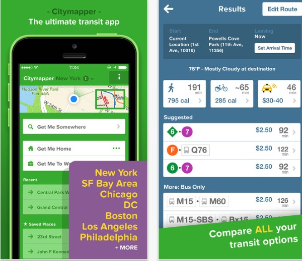 Citymapper – use buses in strange cities without fear [FREEWARE]
