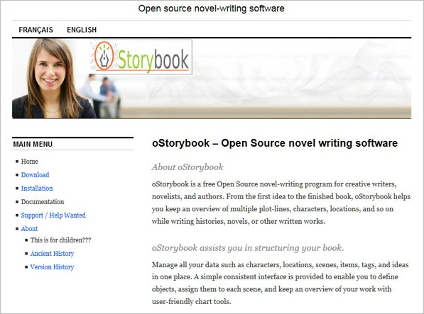 oStorybook – free open source novel writing software [Freeware]