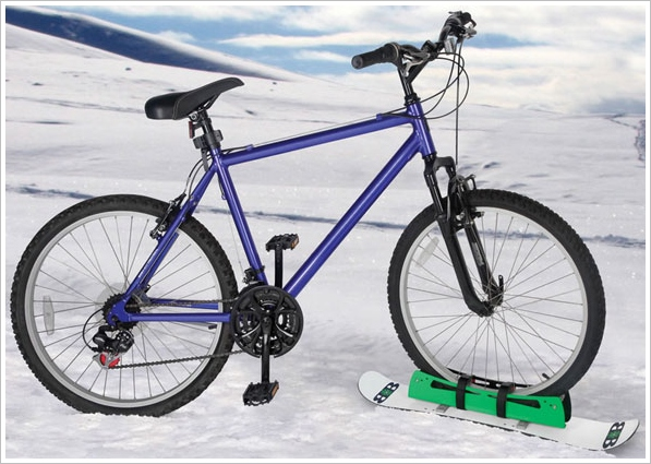Bike Snowboard – cold and crazy combine in one strange contraption