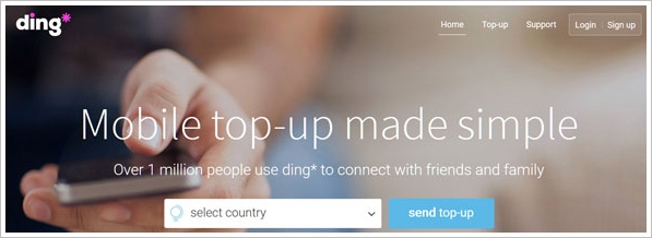Ding – simplify the process of topping up your phone