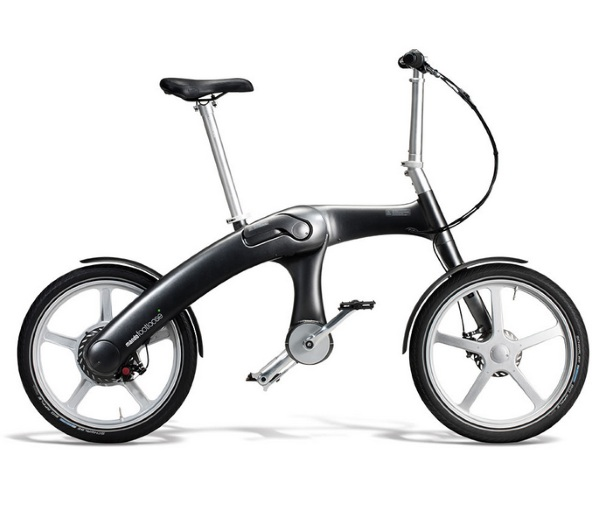 The Self Charging Electric Bike unfolded