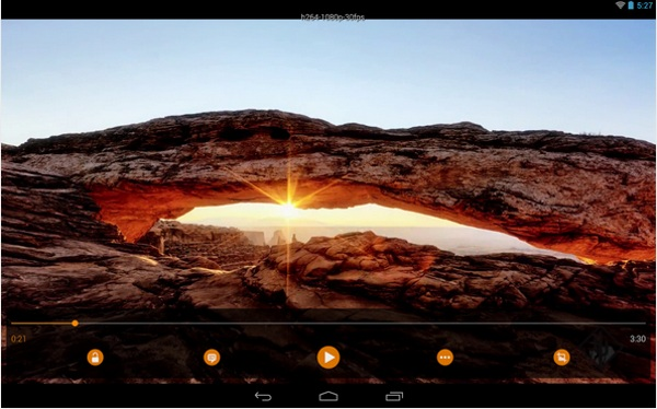 VLC for Android in use