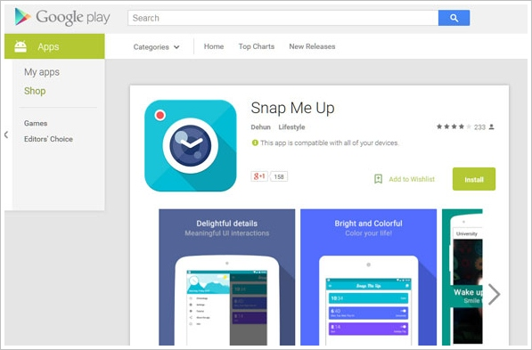 Snap Me Up – this phone alarm won't stop until you take a selfie [Freeware]