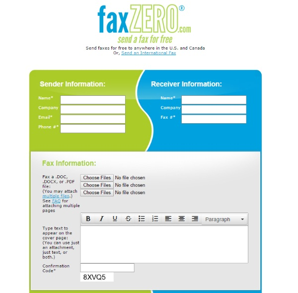 Fax Zero – send a fax straight from your computer