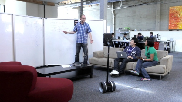 Double Telepresence Robot at meeting