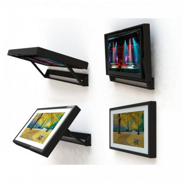 FlipAround Motorized Television Mount – TV when you want it, art when you don't